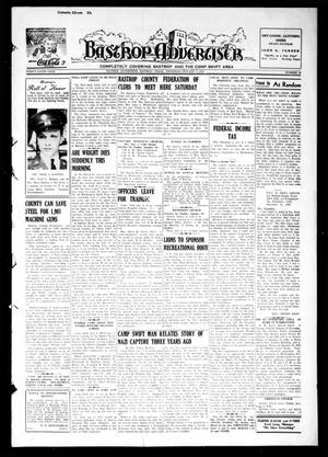 Primary view of object titled 'Bastrop Advertiser (Bastrop, Tex.), Vol. 89, No. 42, Ed. 1 Thursday, January 7, 1943'.