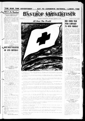 Primary view of object titled 'Bastrop Advertiser (Bastrop, Tex.), Vol. 89, No. 51, Ed. 1 Thursday, March 11, 1943'.