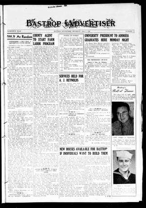 Primary view of Bastrop Advertiser (Bastrop, Tex.), Vol. 90, No. 11, Ed. 1 Thursday, June 3, 1943