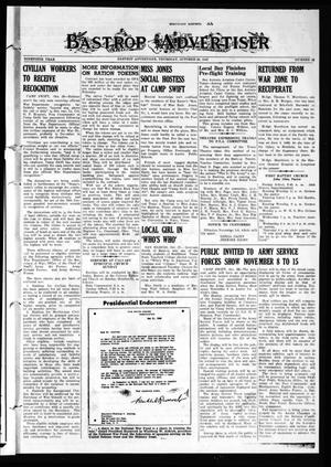 Bastrop Advertiser (Bastrop, Tex.), Vol. 90, No. 32, Ed. 1 Thursday, October 28, 1943