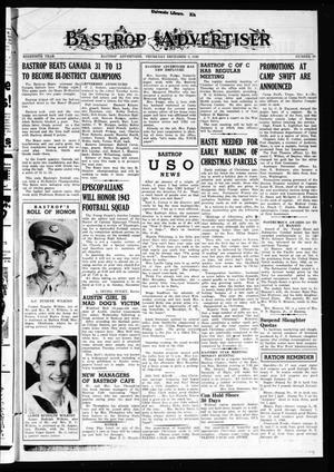 Primary view of object titled 'Bastrop Advertiser (Bastrop, Tex.), Vol. 90, No. 38, Ed. 1 Thursday, December 9, 1943'.