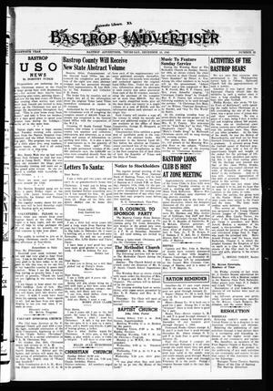 Primary view of object titled 'Bastrop Advertiser (Bastrop, Tex.), Vol. 90, No. 39, Ed. 1 Thursday, December 16, 1943'.