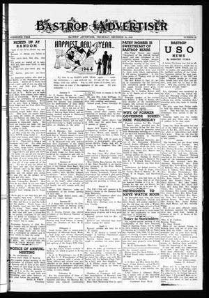 Primary view of object titled 'Bastrop Advertiser (Bastrop, Tex.), Vol. 90, No. 41, Ed. 1 Thursday, December 30, 1943'.