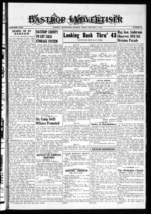 Primary view of object titled 'Bastrop Advertiser (Bastrop, Tex.), Vol. 90, No. 42, Ed. 1 Thursday, January 6, 1944'.