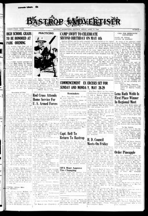 Primary view of object titled 'Bastrop Advertiser (Bastrop, Tex.), Vol. 91, No. 6, Ed. 1 Thursday, April 27, 1944'.