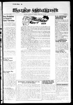 Primary view of object titled 'Bastrop Advertiser (Bastrop, Tex.), Vol. 91, No. 8, Ed. 1 Thursday, May 11, 1944'.