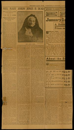 Primary view of object titled 'Houston Daily Post 1 January 1908'.