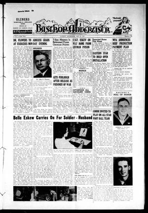 Primary view of object titled 'Bastrop Advertiser (Bastrop, Tex.), Vol. 92, No. 10, Ed. 1 Thursday, May 24, 1945'.