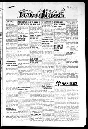 Primary view of object titled 'Bastrop Advertiser (Bastrop, Tex.), Vol. 92, No. 28, Ed. 1 Thursday, September 27, 1945'.
