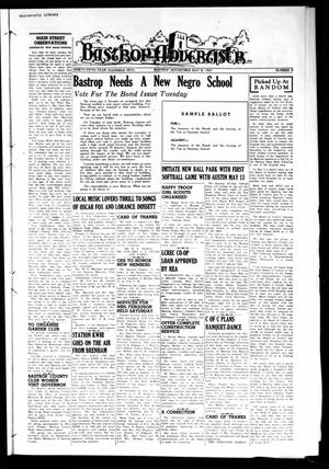 Primary view of object titled 'Bastrop Advertiser (Bastrop, Tex.), Vol. 95, No. 9, Ed. 1 Thursday, May 8, 1947'.