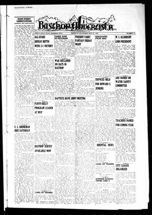 Primary view of object titled 'Bastrop Advertiser (Bastrop, Tex.), Vol. 95, No. 11, Ed. 1 Thursday, May 22, 1947'.