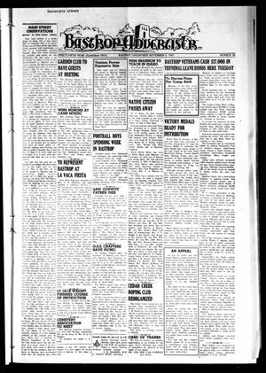 Primary view of object titled 'Bastrop Advertiser (Bastrop, Tex.), Vol. 95, No. 26, Ed. 1 Thursday, September 4, 1947'.