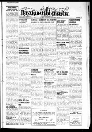 Primary view of object titled 'Bastrop Advertiser (Bastrop, Tex.), Vol. 95, No. 28, Ed. 1 Thursday, September 18, 1947'.