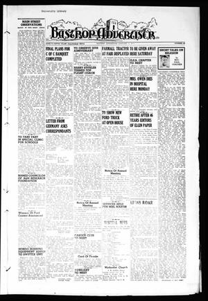 Primary view of object titled 'Bastrop Advertiser (Bastrop, Tex.), Vol. 95, No. 44, Ed. 1 Thursday, January 8, 1948'.