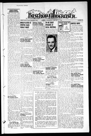 Primary view of object titled 'Bastrop Advertiser (Bastrop, Tex.), Vol. 95, No. 49, Ed. 1 Thursday, February 12, 1948'.