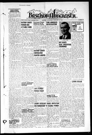 Primary view of object titled 'Bastrop Advertiser (Bastrop, Tex.), Vol. 95, No. 50, Ed. 1 Thursday, February 19, 1948'.