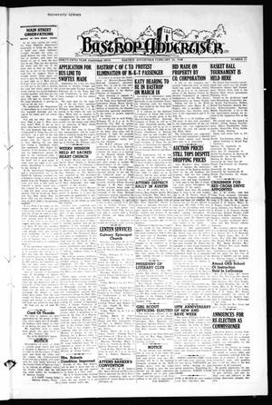 Primary view of object titled 'Bastrop Advertiser (Bastrop, Tex.), Vol. 95, No. 51, Ed. 1 Thursday, February 26, 1948'.