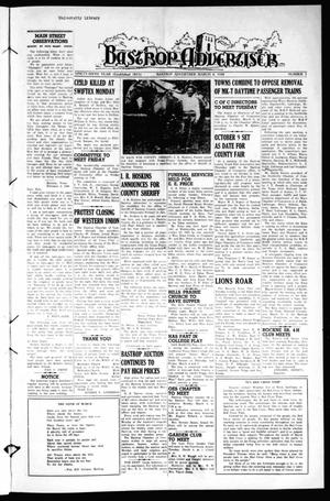 Primary view of object titled 'Bastrop Advertiser (Bastrop, Tex.), Vol. 96, No. 1, Ed. 1 Thursday, March 4, 1948'.
