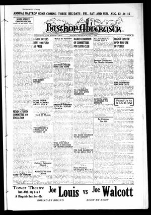 Primary view of object titled 'Bastrop Advertiser (Bastrop, Tex.), Vol. 96, No. 18, Ed. 1 Thursday, July 1, 1948'.