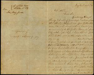 Letter to Colonel Allen, 15 October 1859