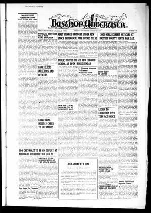 Primary view of Bastrop Advertiser (Bastrop, Tex.), Vol. 96, No. 47, Ed. 1 Thursday, January 20, 1949