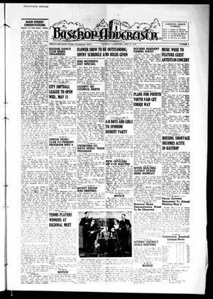 Primary view of object titled 'Bastrop Advertiser (Bastrop, Tex.), Vol. 97, No. 9, Ed. 1 Thursday, April 28, 1949'.