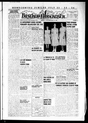 Primary view of object titled 'Bastrop Advertiser (Bastrop, Tex.), Vol. 97, No. 11, Ed. 1 Thursday, May 12, 1949'.