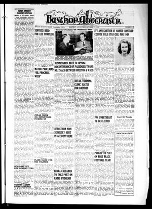 Primary view of object titled 'Bastrop Advertiser (Bastrop, Tex.), Vol. 97, No. 33, Ed. 1 Thursday, October 13, 1949'.