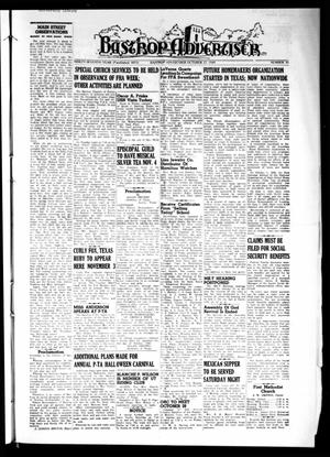 Primary view of object titled 'Bastrop Advertiser (Bastrop, Tex.), Vol. 97, No. 35, Ed. 1 Thursday, October 27, 1949'.