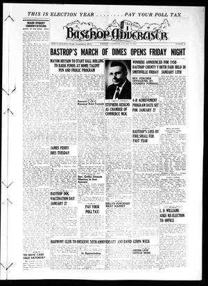 Primary view of object titled 'Bastrop Advertiser (Bastrop, Tex.), Vol. 97, No. 47, Ed. 1 Thursday, January 19, 1950'.