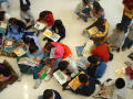 [Students read books together at Seminary Hills Elementary]
