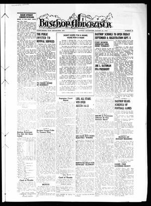 Primary view of object titled 'Bastrop Advertiser (Bastrop, Tex.), Vol. 98, No. 25, Ed. 1 Thursday, August 24, 1950'.