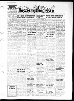 Primary view of object titled 'Bastrop Advertiser (Bastrop, Tex.), Vol. 98, No. 29, Ed. 1 Thursday, September 21, 1950'.