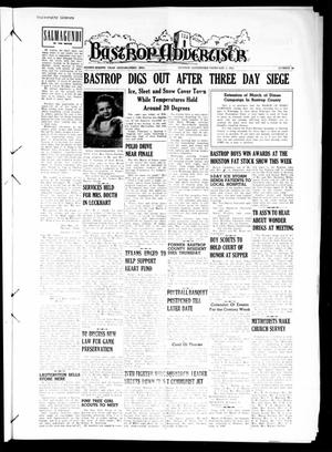 Primary view of object titled 'Bastrop Advertiser (Bastrop, Tex.), Vol. 98, No. 49, Ed. 1 Thursday, February 1, 1951'.