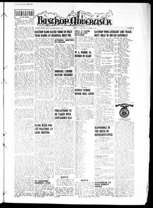 Primary view of object titled 'Bastrop Advertiser (Bastrop, Tex.), Vol. 99, No. 6, Ed. 1 Thursday, April 5, 1951'.