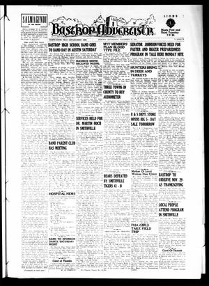 Primary view of object titled 'Bastrop Advertiser (Bastrop, Tex.), Vol. 99, No. 39, Ed. 1 Thursday, November 22, 1951'.