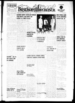 Primary view of object titled 'Bastrop Advertiser (Bastrop, Tex.), Vol. 99, No. 42, Ed. 1 Thursday, December 13, 1951'.