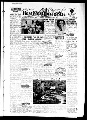 Primary view of object titled 'Bastrop Advertiser (Bastrop, Tex.), Vol. 100, No. 26, Ed. 1 Thursday, August 28, 1952'.
