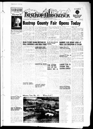 Primary view of object titled 'Bastrop Advertiser (Bastrop, Tex.), Vol. 100, No. 37, Ed. 1 Thursday, November 13, 1952'.