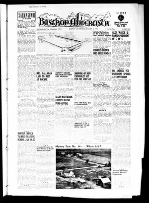 Primary view of object titled 'Bastrop Advertiser (Bastrop, Tex.), Vol. 100, No. 45, Ed. 1 Thursday, January 8, 1953'.