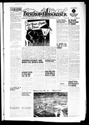 Primary view of object titled 'Bastrop Advertiser (Bastrop, Tex.), Vol. 100, No. 48, Ed. 1 Thursday, January 29, 1953'.