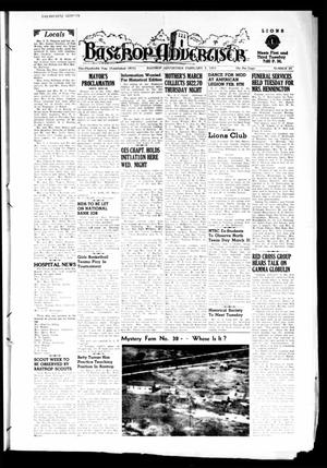 Primary view of object titled 'Bastrop Advertiser (Bastrop, Tex.), Vol. 100, No. 49, Ed. 1 Thursday, February 5, 1953'.