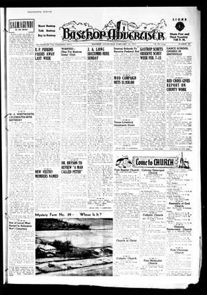 Primary view of object titled 'Bastrop Advertiser (Bastrop, Tex.), Vol. 100, No. 50, Ed. 1 Thursday, February 12, 1953'.
