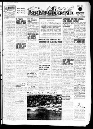 Primary view of object titled 'Bastrop Advertiser (Bastrop, Tex.), Vol. 101, No. 1, Ed. 1 Thursday, March 5, 1953'.
