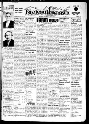 Primary view of object titled 'Bastrop Advertiser (Bastrop, Tex.), Vol. 101, No. 19, Ed. 1 Thursday, July 9, 1953'.