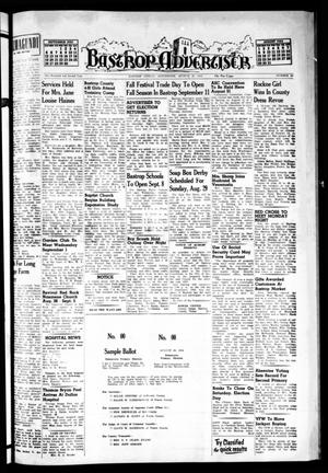 Primary view of object titled 'Bastrop Advertiser (Bastrop, Tex.), Vol. 102, No. 26, Ed. 1 Thursday, August 26, 1954'.