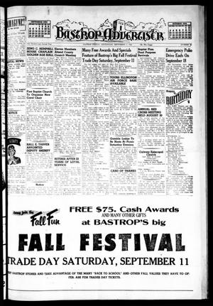 Primary view of object titled 'Bastrop Advertiser (Bastrop, Tex.), Vol. 102, No. 28, Ed. 1 Thursday, September 9, 1954'.