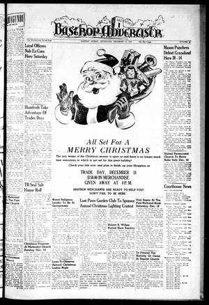 Primary view of object titled 'Bastrop Advertiser (Bastrop, Tex.), Vol. 102, No. 42, Ed. 1 Thursday, December 16, 1954'.