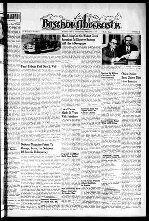 Primary view of object titled 'Bastrop Advertiser (Bastrop, Tex.), Vol. 102, No. 49, Ed. 1 Thursday, February 3, 1955'.