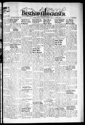 Primary view of object titled 'Bastrop Advertiser (Bastrop, Tex.), Vol. 103, No. 24, Ed. 1 Thursday, August 11, 1955'.